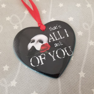 Porcelain ornament - Phantom of the Opera inspired - All I ask of You