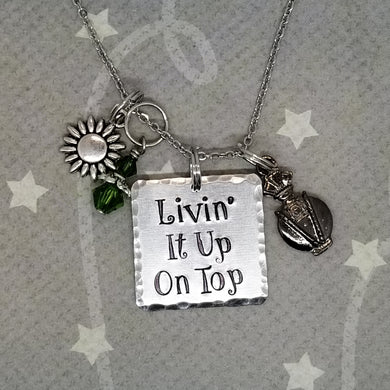 Livin' it up on top - Hadestown inspired Charm Necklace