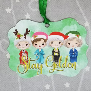 Aluminum ornament - Golden Girls Inspired