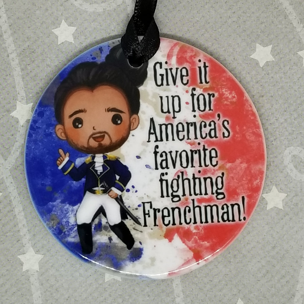 Porcelain ornament - Hamilton Inspired - America's Favorite Fighting Frenchman