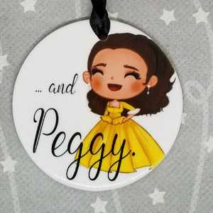Porcelain ornament - Hamilton Inspired - And Peggy