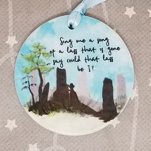 Porcelain ornament -  Outlander inspired - Sing Me a Song