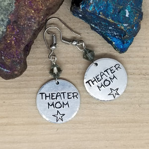 Theater Mom Stamped Earrings