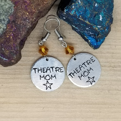 Theatre Mom Stamped Earrings