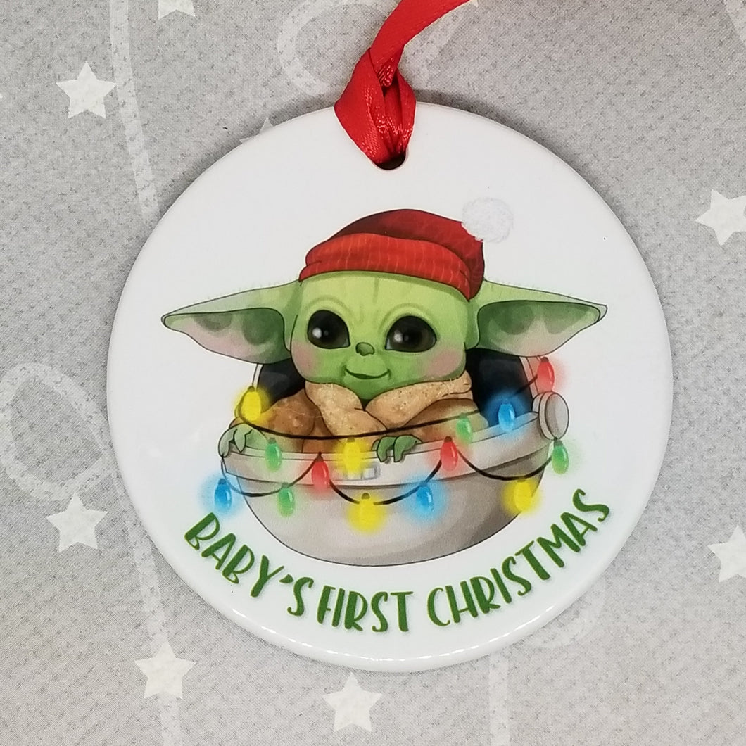 Porcelain ornament - The Child from The Mandalorian inspired - First Christmas