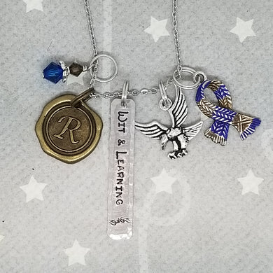 HP inspired House charm necklace