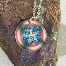 with you till the end of the line - Shell pendant