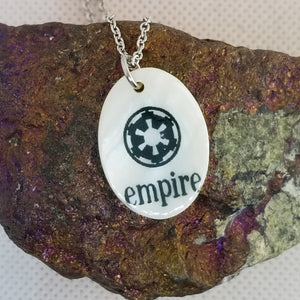 Rebel - Empire - Jedi - choose a side - Shell pendant