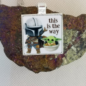 This is the Way - Graphic Metal Pendant