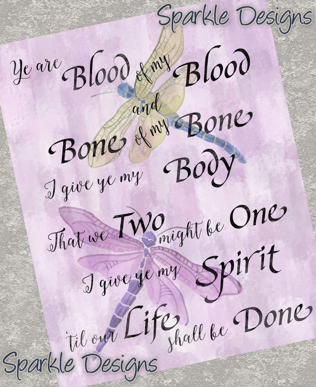 Ye Are Blood Of My Blood... - Outlander 220 Art Print