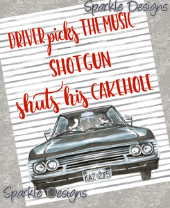 Driver Picks The Music...  - Supernatural 223 Art Print