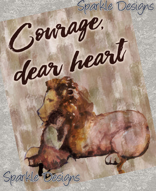 Courage Dear Heart - Narnia 234 Magnet