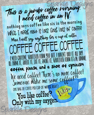 Coffee quotes - Gilmore Girl 241 Art Print