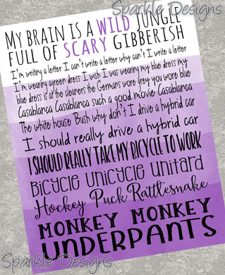 Monkey Monkey Underpants - long - Gilmore Girls 246 Magnet