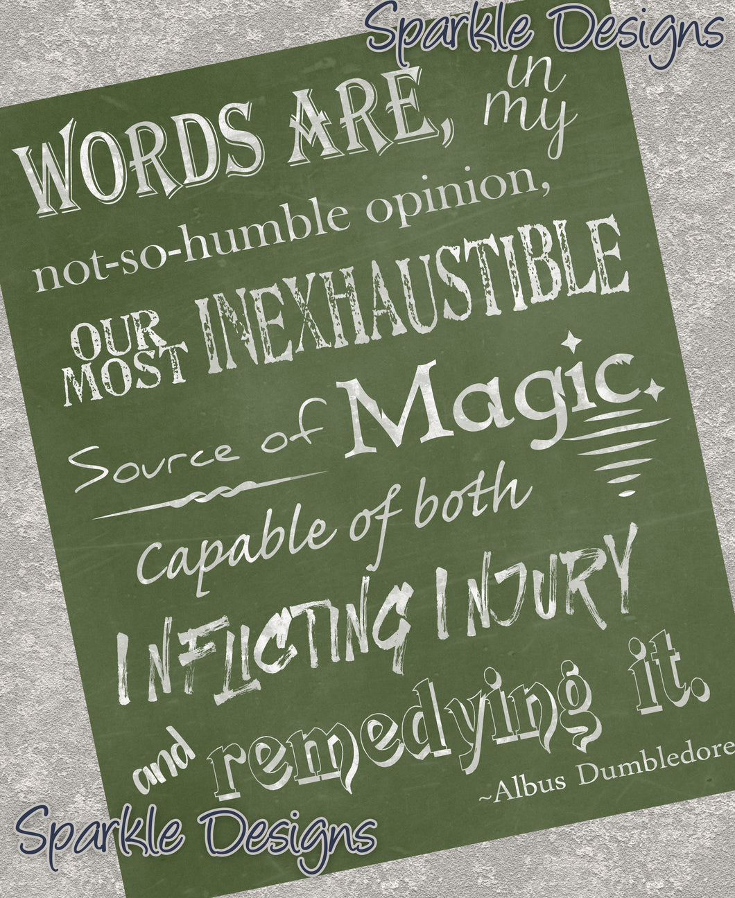 Dumbledore Words Quote - Harry Potter 132 Art Print