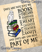 Books are a part of me - 258 Magnet