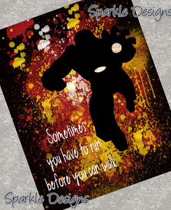 Sometimes you have to run before you can walk - Iron Man 111 Art Print
