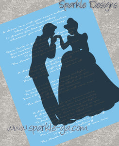 A Dream is a wish lyrics - Cinderella 22 Art Print