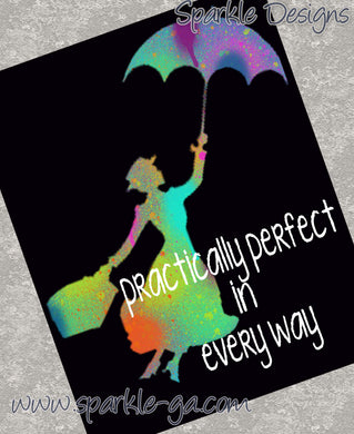 Practically perfect in every way - Mary Poppins 40 Art Print