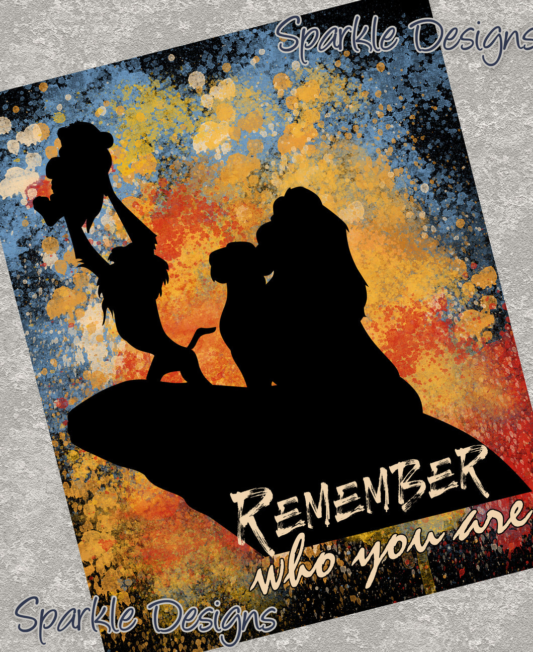 Remember who you are - Lion King 119 Art Print