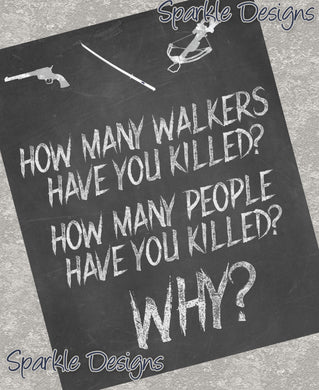 Rick's 3 Questions - The Walking Dead 73 Art Print
