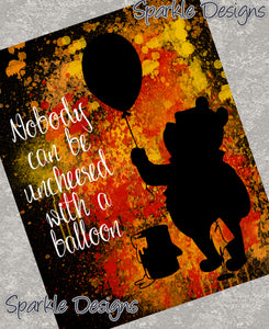 Nobody can be uncheered with a balloon - Pooh 105 Art Print
