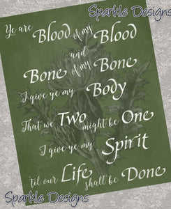 Ye are blood of my blood - Outlander 124 Art Print
