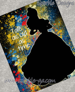 Tale as old as time - Belle / Beauty & the Beast 19 Art Print