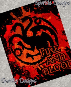 Fire and Blood - Game of Thrones 55 Art Print
