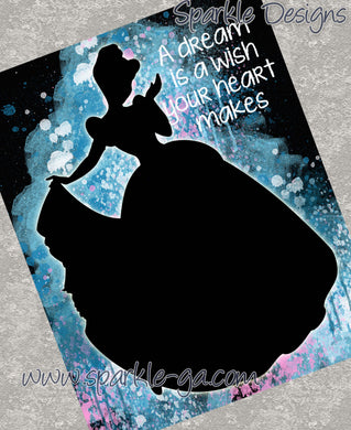 A dream is a wish - Cinderella 21 Art Print