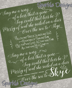 Sing me a song - Outlander 123 Art Print