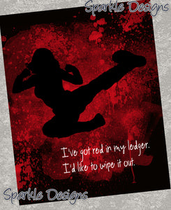 I've got red in my ledger - Black Widow 107 Art Print