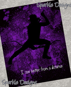 I see better from a distance - Hawkeye 110 Art Print