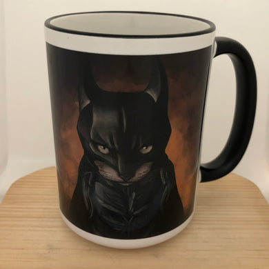 Bat Cat 15 oz coffee mug
