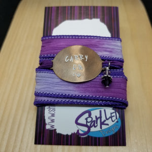 Carry On silk wrap bracelet