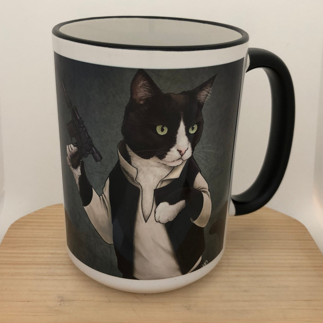 Cat Solo 15 oz coffee mug