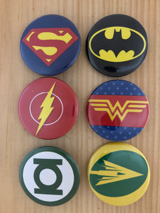 DC Inspired Button Set