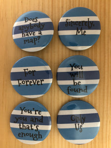 Dear Evan Hansen Inspired Button Set