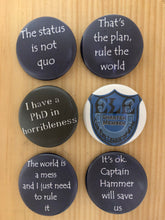 Doctor Horrible Inspired Button Set