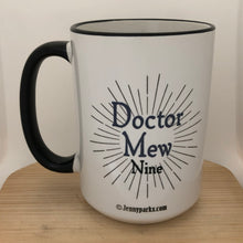 Doctor Mew - Ninth Doctor 15 oz coffee mug