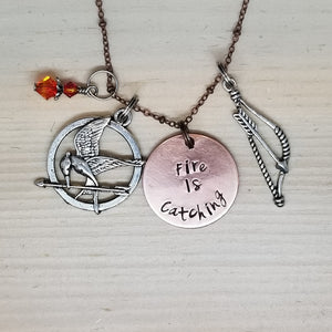 Fire Is Catching - Charm Necklace