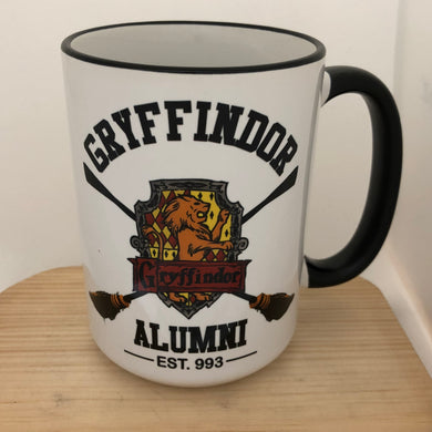 Hogwarts House Alumni 15 oz coffee mug