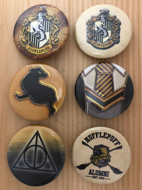 Hufflepuff Inspired Button Set