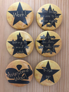 Hamilton Inspired Button Set 1