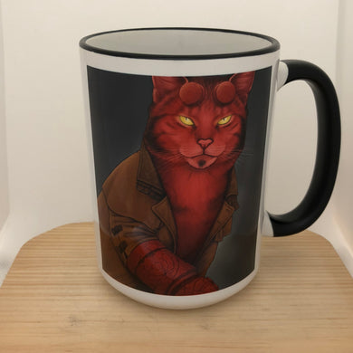 Hellkitty 15 oz coffee mug