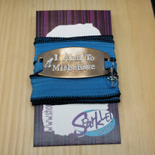 I Aim To Misbehave silk wrap bracelet
