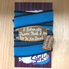 I Solemnly Swear... Mischief Managed   silk wrap bracelet