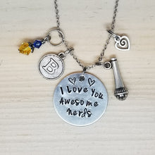 I Love You Awesome Nerds - Charm Necklace