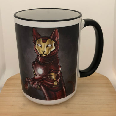 Iron Cat 15 oz coffee mug