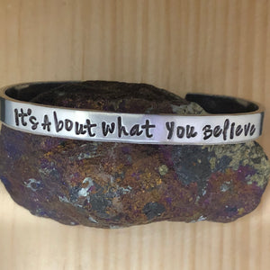 It's About What You Believe Cuff Bracelet